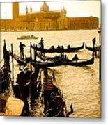 Grand Canal At Sunset - Venice Metal Print