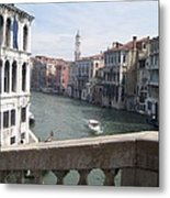 Grand Canal From A Bridge Metal Print