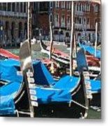Grand Canal Gondolas Painting Metal Print
