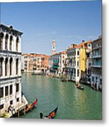 Grand Canal With Gondola  Venice Metal Print