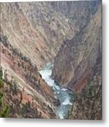 Grand Canyon At Yellowstone Metal Print