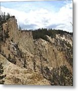 Grand Canyon Cliff In Yellowstone Metal Print