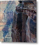 Grand Canyon Close Enough Metal Print