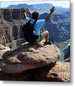 Grand Canyon Feeling All Right Metal Print
