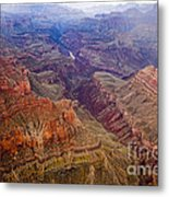 Grand Canyon Morning Scenic View Metal Print
