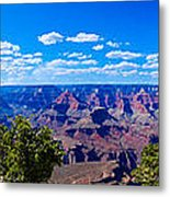 Grand Canyon Panorama White Metal Print