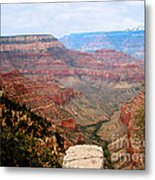 Grand Canyon With Smoke Metal Print by The Kepharts
