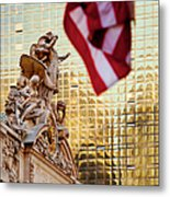Grand Central Flag Metal Print