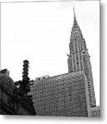 Grand Central-grand Hyatt-chrysler Metal Print by David Bearden