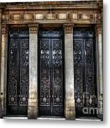 Grand Door - Leeds Town Hall Metal Print