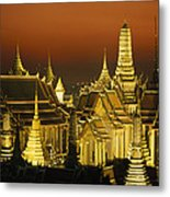 Grand Palace And Temple Of The Emerald Metal Print