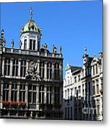 Grand Place Buildings Metal Print
