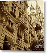 Grand Place Perspective Metal Print