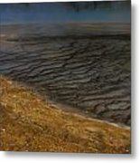 Grand Prismatic Spring Runoff Metal Print