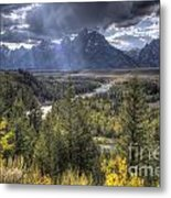Grand Teton National Park And Snake River Metal Print