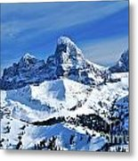 Grand Teton Winter Metal Print