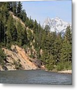 Grand Tetons From Snake River Metal Print
