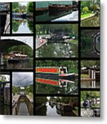 Grand Union Canal Collage Metal Print