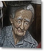 Grandma Under Glass Metal Print
