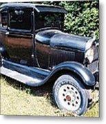 Grandpa's First Car Metal Print