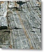Granite With Quartz Inclusions Metal Print