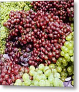 Grapes At A Market Stall Metal Print