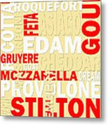 Graphic Cheese Metal Print