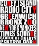 Graphic New York 3 Metal Print