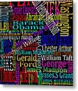Graphic Presidents Metal Print