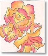 Graphic Rose Metal Print