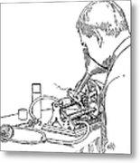 Graphophone Metal Print