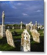 Graveyard, Clonmacnoise, County Offaly Metal Print