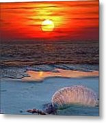 Grayton Beach Sunset IIi Metal Print by Charles Warren
