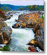 Great Falls On The Potomac River In Virginia Metal Print