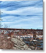 Great Falls Rr Bridge 10477c Metal Print