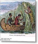 Great Lakes: Canoe, 19th C Metal Print