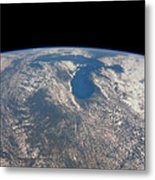 Great Lakes From Space Metal Print