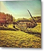 Great Photo Of Some Old #farm Tools Metal Print