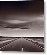 Great Plains Road Trip Bw Metal Print