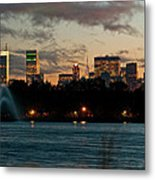 Great Pond Fountain Metal Print