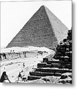 Great Pyramid Of Giza - Egypt - C 1926 Metal Print