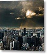 Great Skies Over Manhattan Metal Print by Hannes Cmarits
