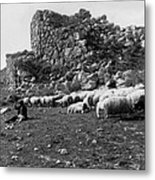 Great Tower Of Tiryns - Greece - Birthplace Of Hercules Metal Print