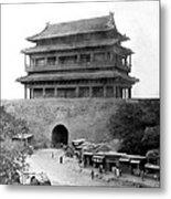 Great Wall Of China - Peking - C 1901 Metal Print