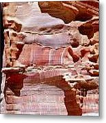 Great Wall Of Petra Jordan Metal Print by Eva Kaufman