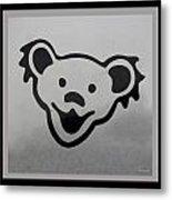 Greatful Dead Dancing Bear In Black And White Metal Print
