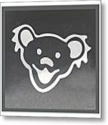 Greatful Dead Dancing Bear In Negative Metal Print