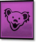 Greatful Dead Dancing Bear In Pink Metal Print