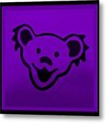 Greatful Dead Dancing Bear In Purple Metal Print
