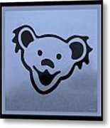 Greatful Dead Dancing Bears In Cyan Metal Print